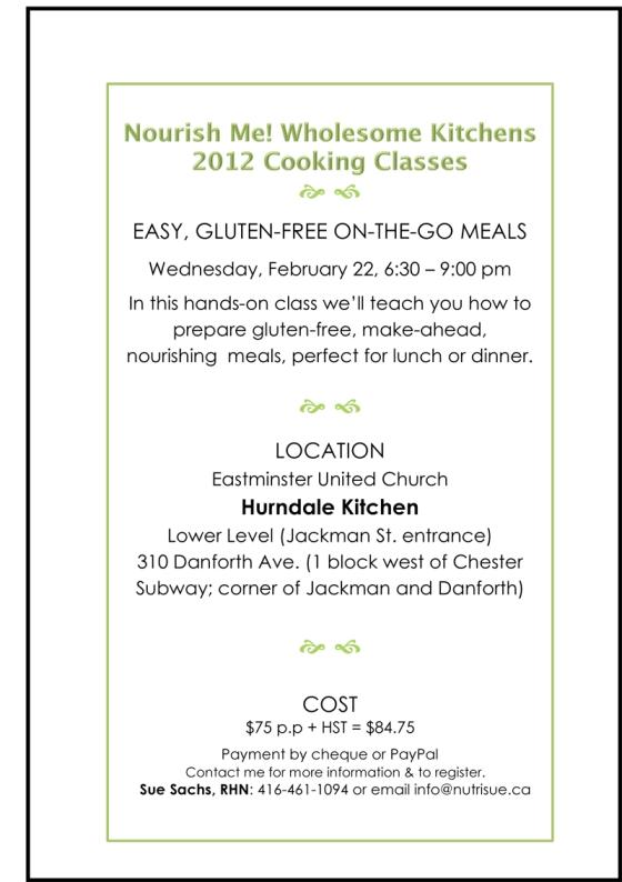 Nourish Me! - Gluten-free workshop