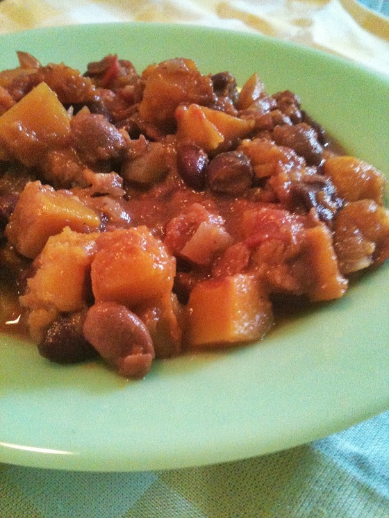 NutriSue - butternut squash chili