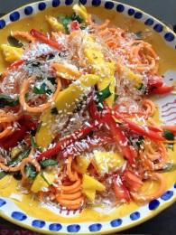 NutriSue - raw sweet potato, carrot and mango salad