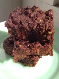 NutriSue - chocolate pumpkin quinoa brownies