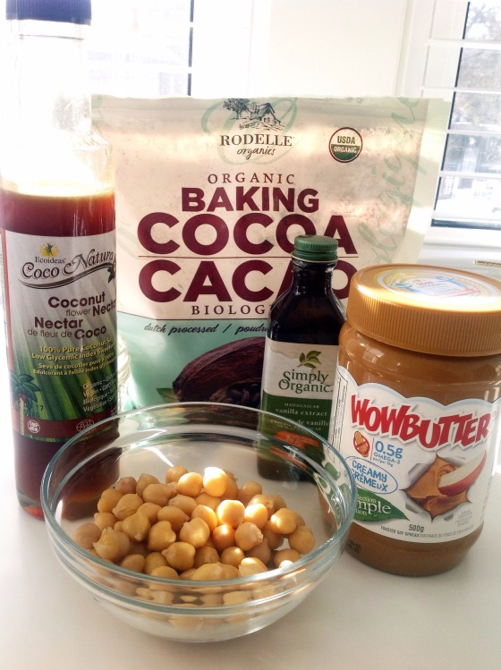 chocolate hummus made with just a few whole food ingredients